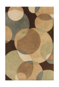 ZnZ Rugs Gallery 20047-6X9 Handmade New Zealand Blend Wool Rug, 1.8m by 2.7m, Brown
