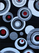 175 Grey Black White Red 1.5m0.6m x 2.1m2 Modern Abstract Area Rug Carpet