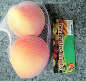 2 Pack Fake Peaches Artificial Fruit