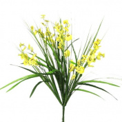 60cm REALISTIC SILK DANCING ORCHID GRASS FLOWER BUSH YELLOW 070