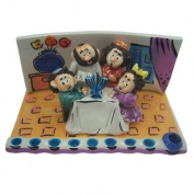 Hanukkah Menorah. Made of Ceramic. Family in Living Room Lighting Menorah Desing. Hand Made in Israel. Size