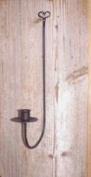 Wrought Iron Wall Sconce Single Arm with Heart Top