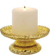 Luna Bazaar Gold Mercury Glass Candle Stand