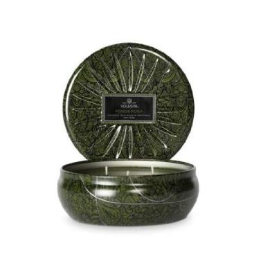 Voluspa 3 Wick Candle In Decorative Tin - Ponderosa 350ml (340g)
