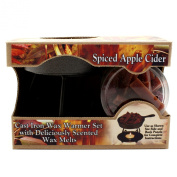 Bright Ideas Candle Wax Warmer Gift Pack, Spiced Apple Cider