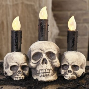 HALLOWEEN SKULL CANDLE WITH LED LIGHT UP