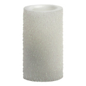 Candle Impressions CAT61306WH00 15cm Iridescent Icicles Flameless Candle, Unscented, White