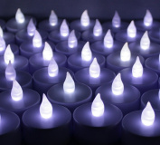 60 PCS Battery Operated Flameless Flickering LED Tealights Candles for Wedding, Luminary Bags, Decorations, Centrepieces, Holidays~ Cool White ~BlueDot Trading