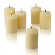 15 Hour Ivory Unscented Votive Candles Set of 36 Made in USA