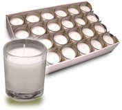 Votive Candles In Clear Glass Cups Provide Soft Illumination For Up To 15 Hours