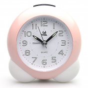 Pearl Sweep Quiet Bedside Battery Operated Analogue Alarm Clock