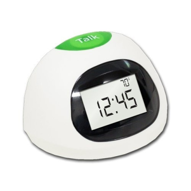Datexx LCD Talking Alarm Clock with Temperature