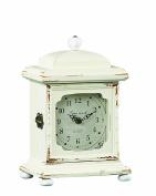 Creative Co-op Wood Mantle Clock, Cream