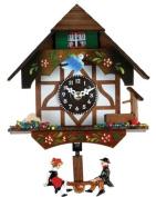 River City Clocks Quartz Novelty Clock - German Chalet with Bird & Well - 15cm Tall - Model # 2070Q-06
