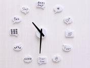 Liroyal Home Decorative wall clock modern design large mirrors Gift living room