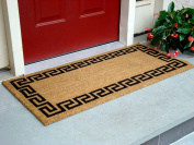 Kempf Greek Key Natural Coco Doormat, 22 by 120cm by 1.3cm