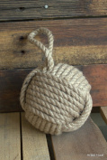 13cm Monkey Fist Nautical Doorstop Rope Sailor Knot