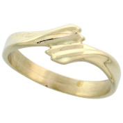 """14k Gold Contemporary Ribbon Ring, 1/4"""" (6.5mm) wide"""