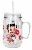 Betty Boop Kiss Mason Jar, Red