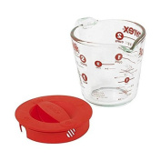 Pyrex Prepware 2-Cup Measuring Cup Clear with Red Lid and Measurements