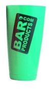 Custom Weighted Neon Green BarProducts Logo Cocktail 830ml Shaker Tin