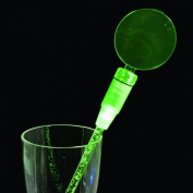 Set of 12 Green Cocktail Party Light Up 17cm Swizzle Sticks