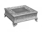 GiftBay Creations 751-20S Wedding Square Cake Stand, 50cm , Silver