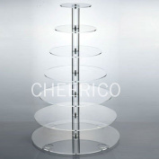 7 Tier Large Maypole Wedding Acrylic Cupcake Stand Tree Tower Cup Cake Display