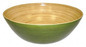 Simply Bamboo 36cm X 13cm Glossy Celadon Green Bamboo Bowl