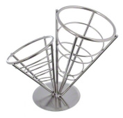 American Metalcraft SS22 2 Cone Stainless Steel Conical Basket, 24cm , Black