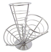 American Metalcraft SS33 3 Stainless Steel Conical Basket, 27cm , Black