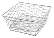 American Metalcraft BNRB68C Square Birdsnest Wire Basket, Chrome