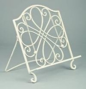 Cream Metal Cookbook Stand