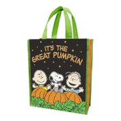 Vandor 85073 Peanuts It's The Great Pumpkin Shopper Tote, Small, Green/Black/Orange