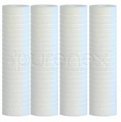 Purenex SG-1M 1 Micron Sediment Water filter Grooved Cartridge, 4-Pack