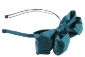 Zest Large Bow Fascinator Alice Band Hair Accessory Teal