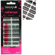 Beauty UK nail wraps no.06 - Lace Noir