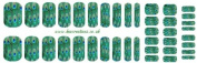 Peacock Nail Wrap Shield adult and child sizes