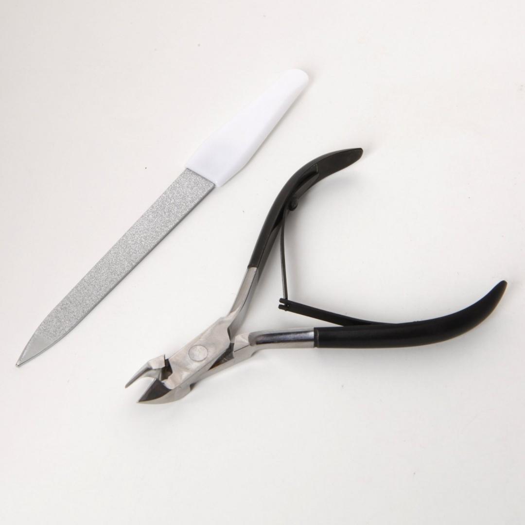 CANDURE® - Professional Black Coated Handle Cuticle Nail Cutter Nail ...
