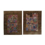 Jaipur Culture Showing Acrylic Hand Painted Frameless Miniature Old Paper Paintings