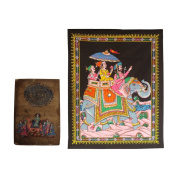 Jaipuri Culture Depicting Old Paper Painted and Cotton Printed Frameless Paintings