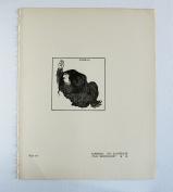 """Aubrey Beardsley - Antique Print - Alberich. To Illustrate """"Das Rheingold"""""""