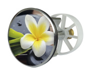 Sanitop-Wingenroth 19558 4 Pop-Up Drainage Plug Metal 38 mm with Spa Flower Design