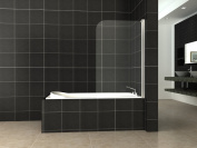 180° Pivot Single Panel Over Bath Shower Screen 6 mm Glass