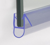 Bath Shower Screen Door Seal For 6-8 mm Glass Up To 8 mm Gap