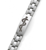 PENICILLIN ALLERGY -Medi-Tag Medical ID Alert Bracelet Stainless Steel