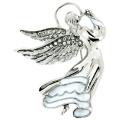 Pynk Jewellery Silver & Clear. Crystal Flying Guardian Angel Brooch