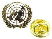 UN United Nations Lapel Pin Badge (Metal / Enamel) White