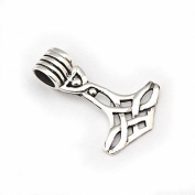 Solid Sterling Silver Mjölnir Viking Thors Hammer Norse Pendant Loki P049