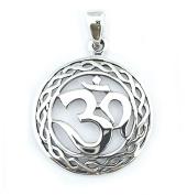 Solid Sterling Silver Om Aum Omkara Pendant Charm P050